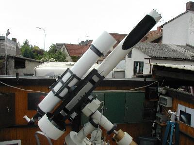 The 200/4000 mm Schiefspiegler of Stefan Schimpf .Note: The guiding ...