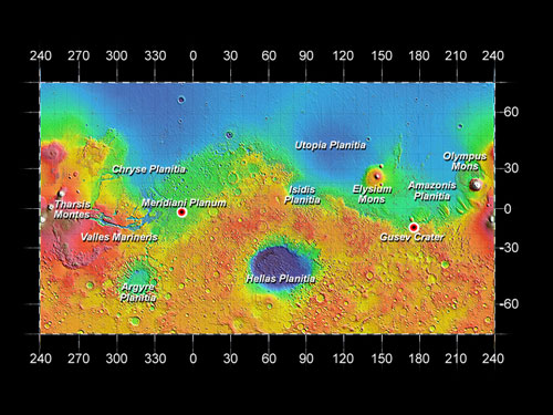 mars rover landing map - photo #14